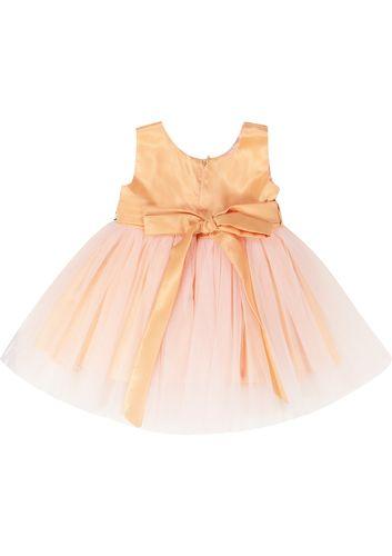 پیراهن آستین حلقه ای نوزادی دخترانه