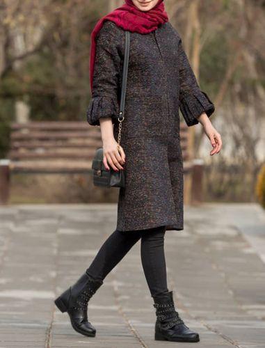 پالتو بلند زنانه مدل نورا