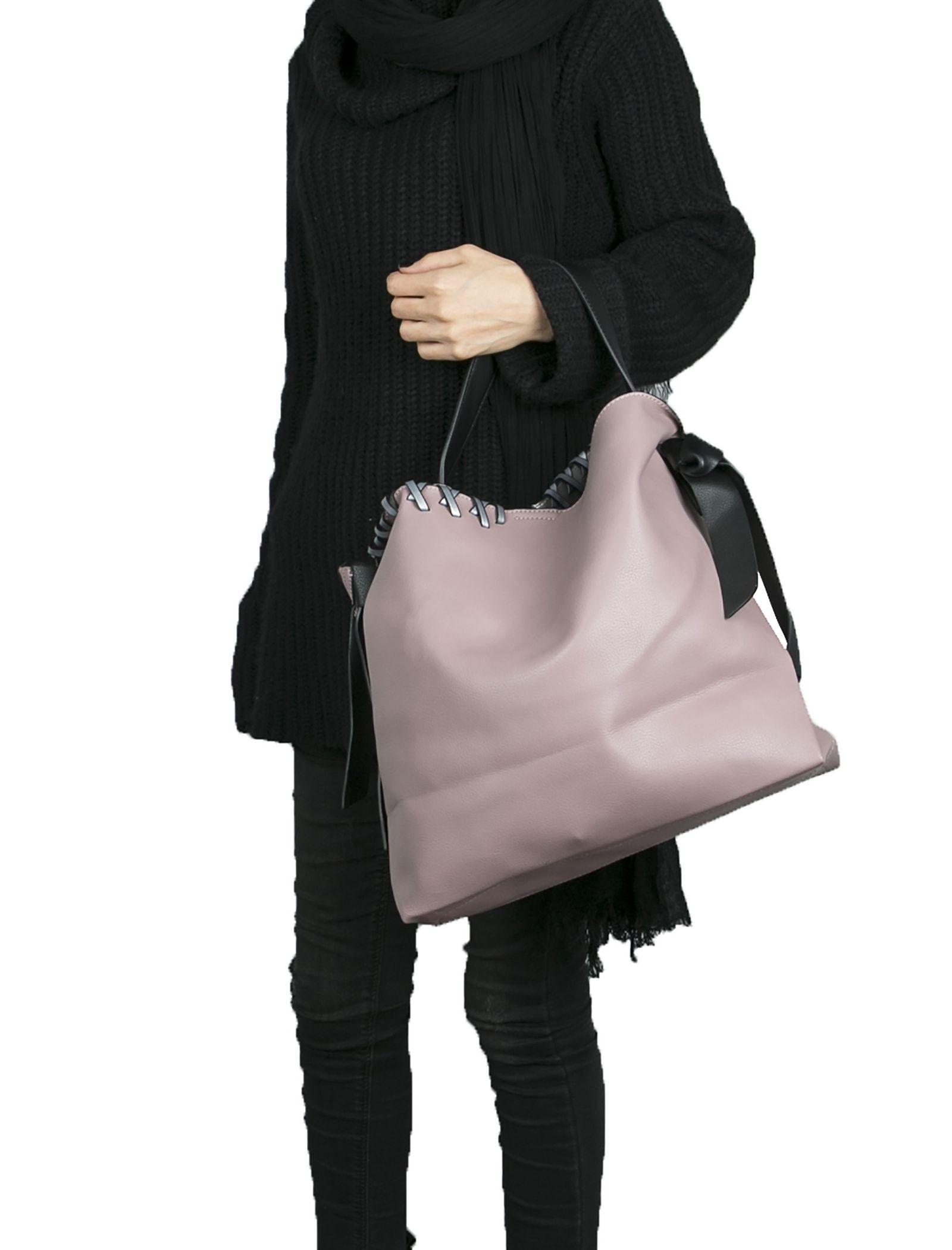 کیف دوشی روزمره زنانه - شانتال - صورتي - 2