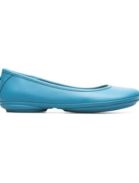 کفش تخت چرم زنانه Right Nina - کمپر - آبي - 1