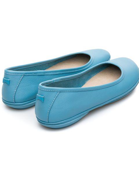 کفش تخت چرم زنانه Right Nina - کمپر - آبي - 2