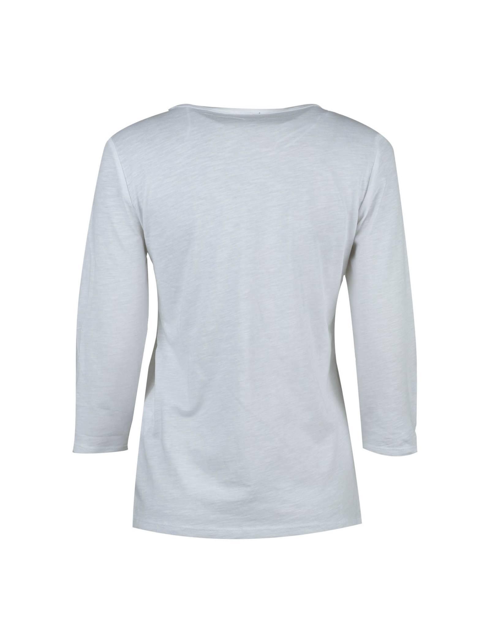 تی شرت نخی یقه گرد زنانه - یوپیم - سفيد - 3