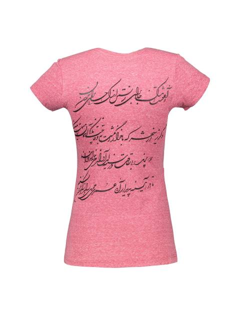تی شرت یقه گرد زنانه - متی - قرمز - 2