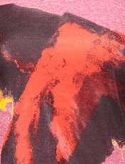 تی شرت یقه گرد زنانه - متی - قرمز - 5