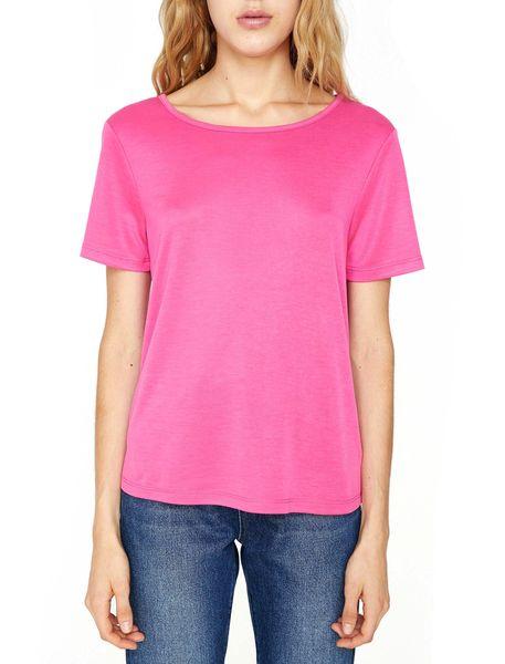 تی شرت یقه گرد زنانه - صورتي - 3