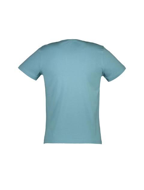 تی شرت نخی یقه گرد مردانه - آبي روشن - 2