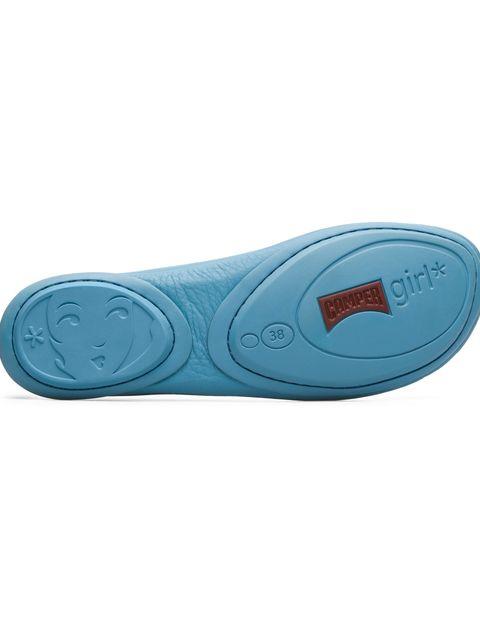 کفش تخت چرم زنانه Right Nina - کمپر - آبي - 5