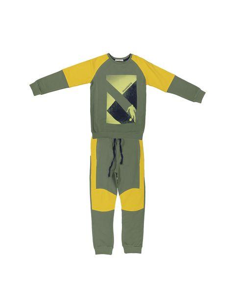 پیراهن و شلوار پسرانه - سبز - 1