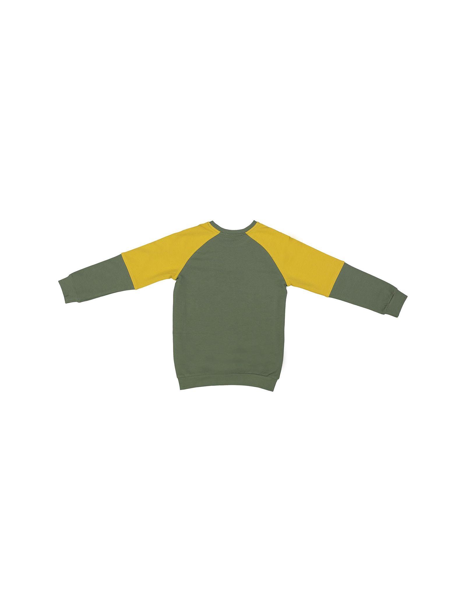 پیراهن و شلوار پسرانه - پیانو - سبز - 3