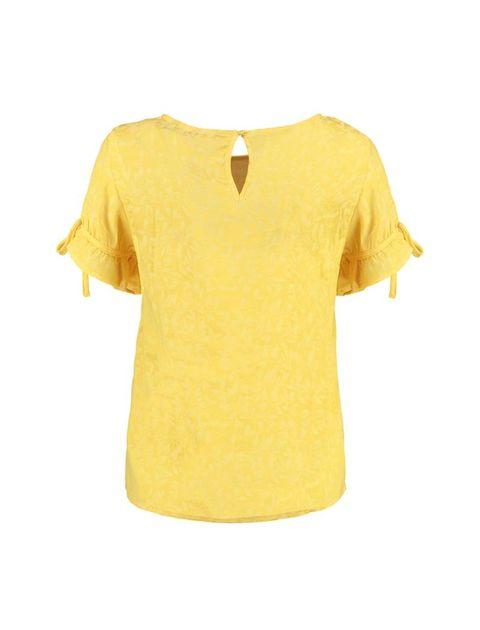 بلوز یقه گرد زنانه - زرد - 2