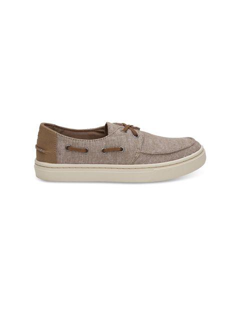 کفش پارچه ای پسرانه - تامز - قهوه اي روشن - 1