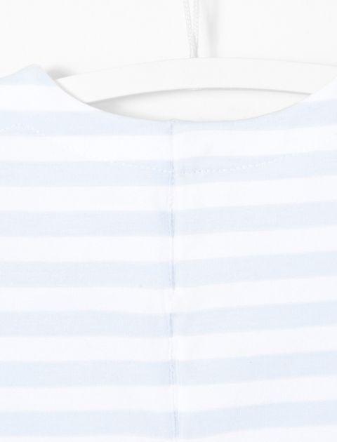 تی شرت نخی نوزادی پسرانه Birdbis - آبي و سفيد - 4