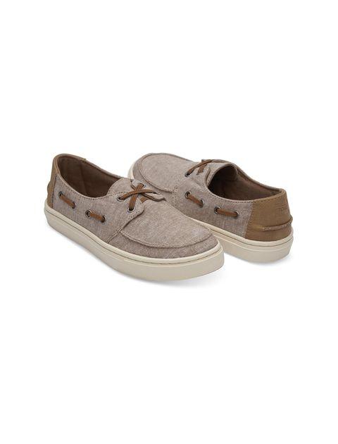 کفش پارچه ای پسرانه - تامز - قهوه اي روشن - 2