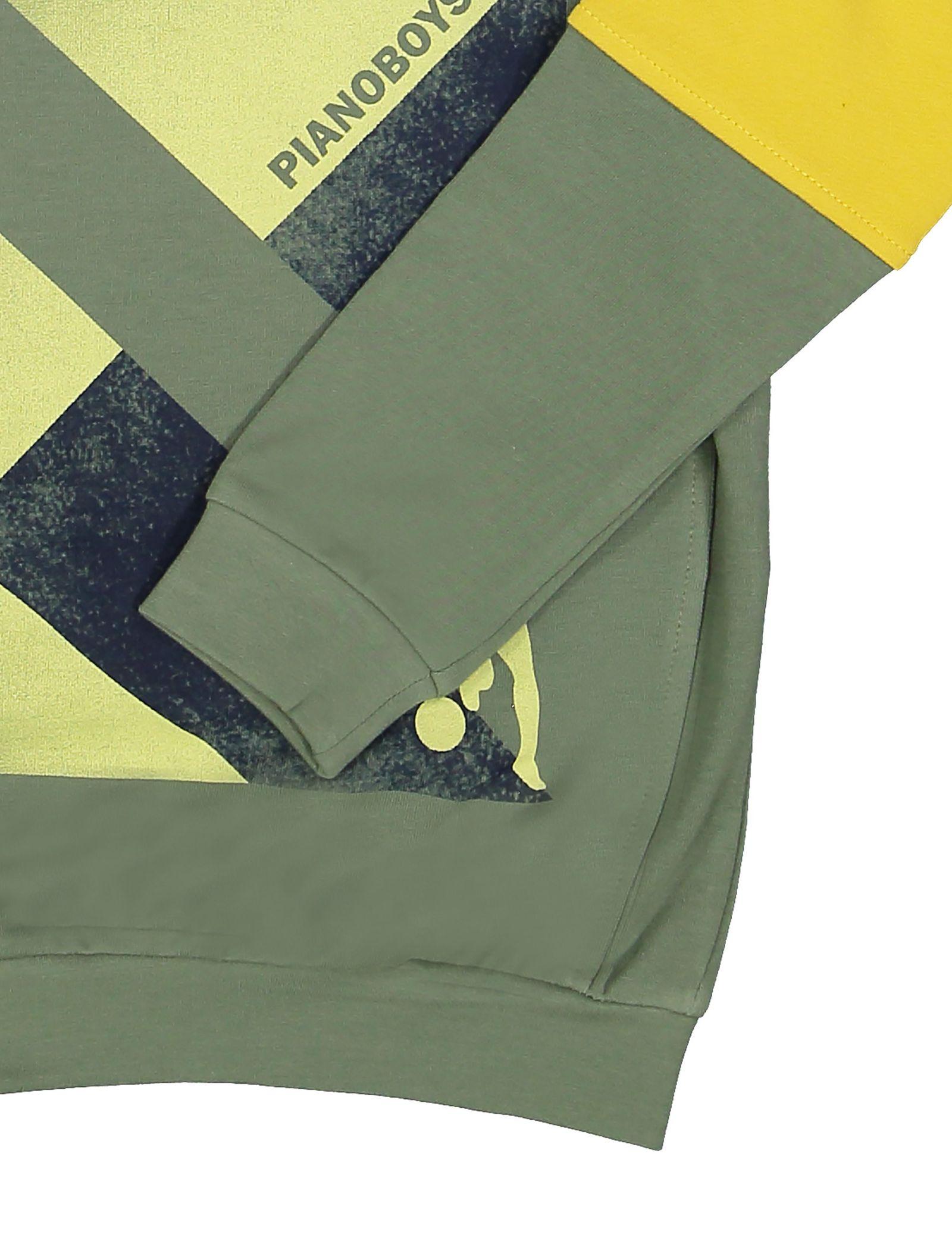 پیراهن و شلوار پسرانه - پیانو - سبز - 6