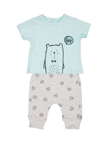 تی شرت و شلوار نخی نوزادی - بلوکیدز