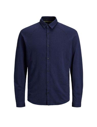 پیراهن نخی آستین بلند مردانه - جک اند جونز