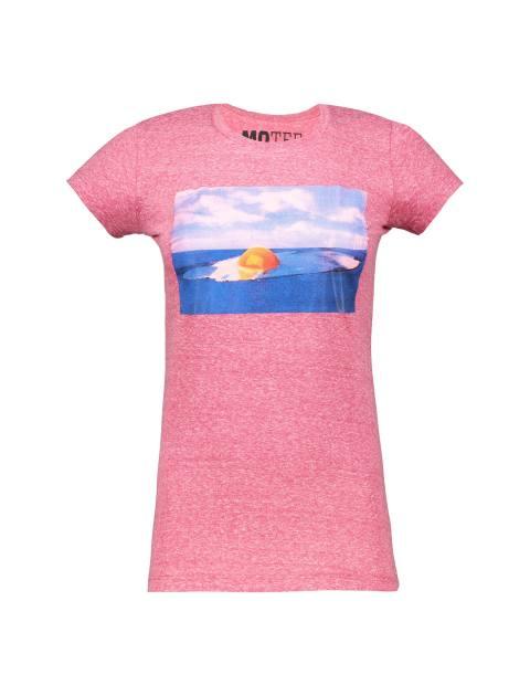 تی شرت یقه گرد زنانه - قرمز - 1