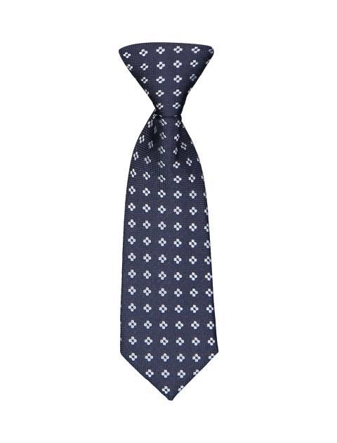 کراوات طرح دار پسرانه - سرمه اي - 1