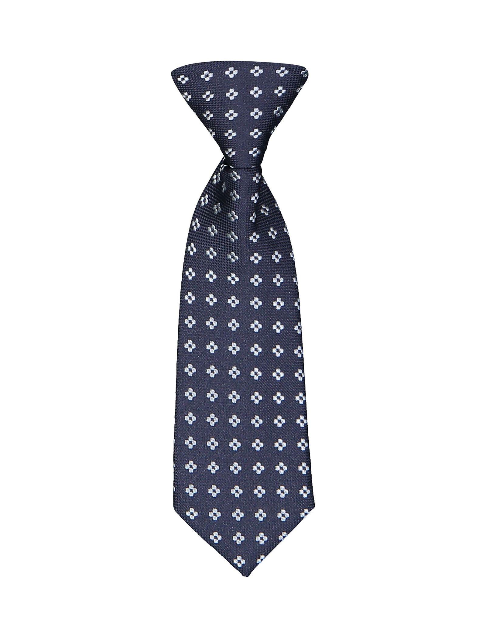 کراوات طرح دار پسرانه - ایدکس - سرمه اي - 1