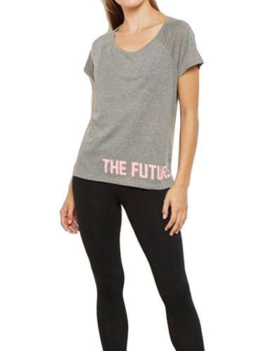 تی شرت نخی یقه گرد زنانه - اونلی پلی