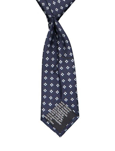 کراوات طرح دار پسرانه - سرمه اي - 2