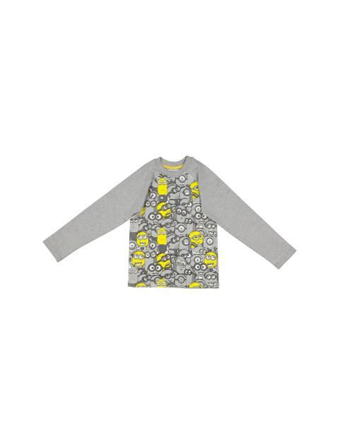 تی شرت نخی یقه گرد پسرانه - سون پون - طوسي  - 1