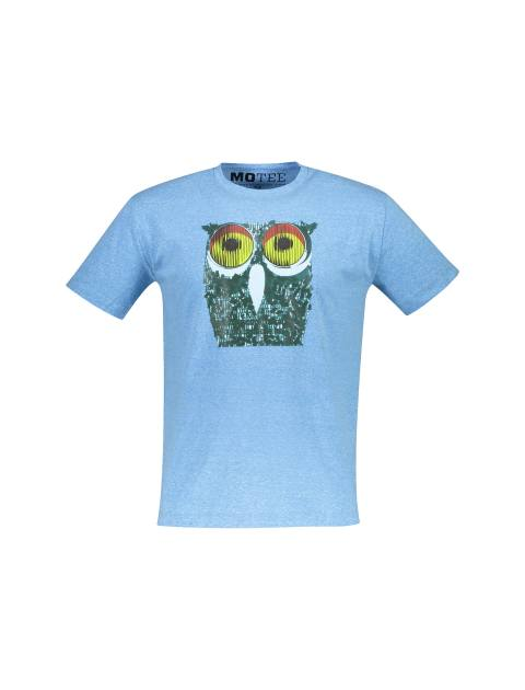 تی شرت یقه گرد مردانه - آبي روشن - 1