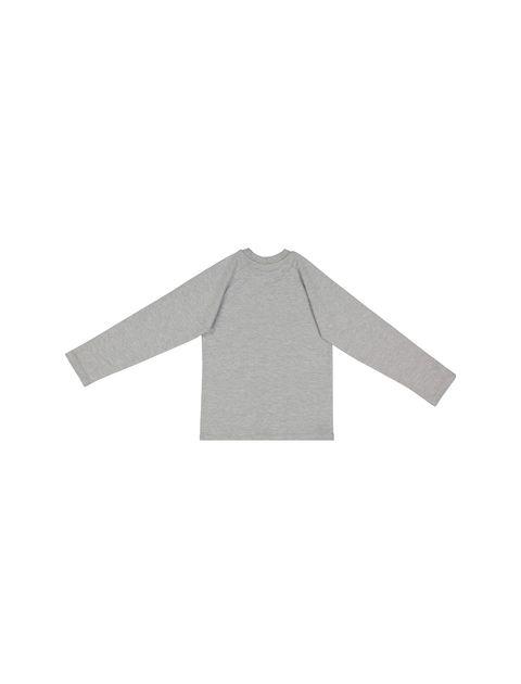 تی شرت نخی یقه گرد پسرانه - سون پون - طوسي  - 2