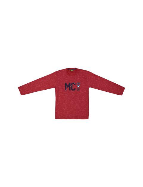 تی شرت نخی آستین بلند پسرانه MC - زرشکي - 1