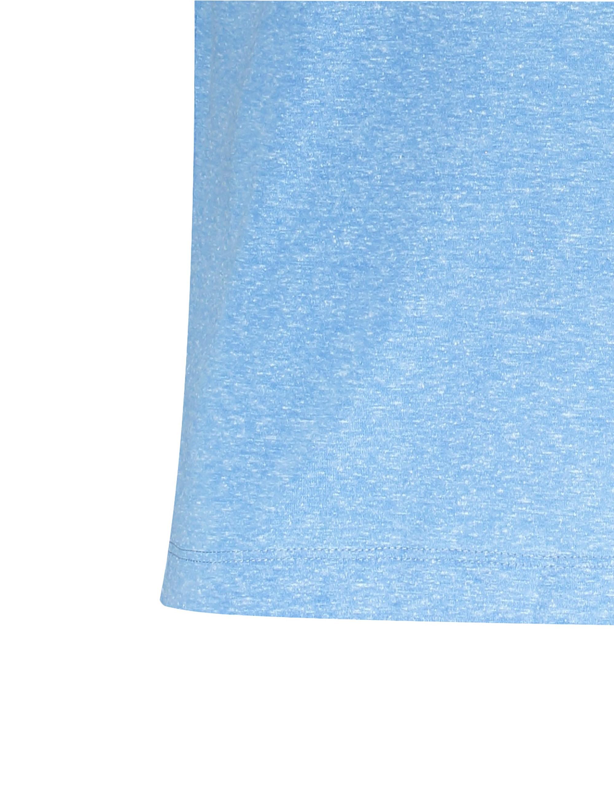 تی شرت یقه گرد مردانه - آبي روشن - 4