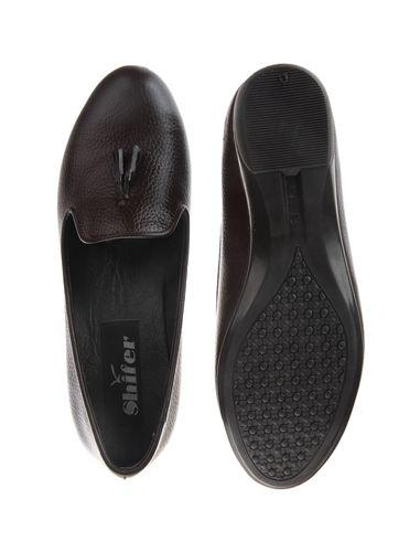 کفش چرم تخت زنانه