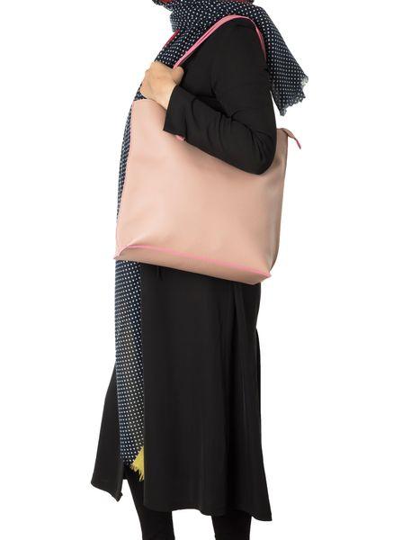 کیف دوشی روزمره زنانه - صورتي - 3