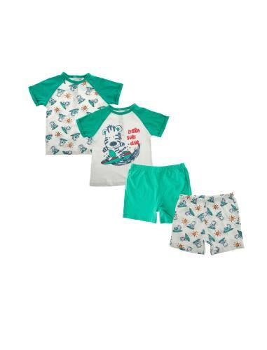 تی شرت و شلوارک نخی نوزادی بسته 2 عددی - بلوکیدز