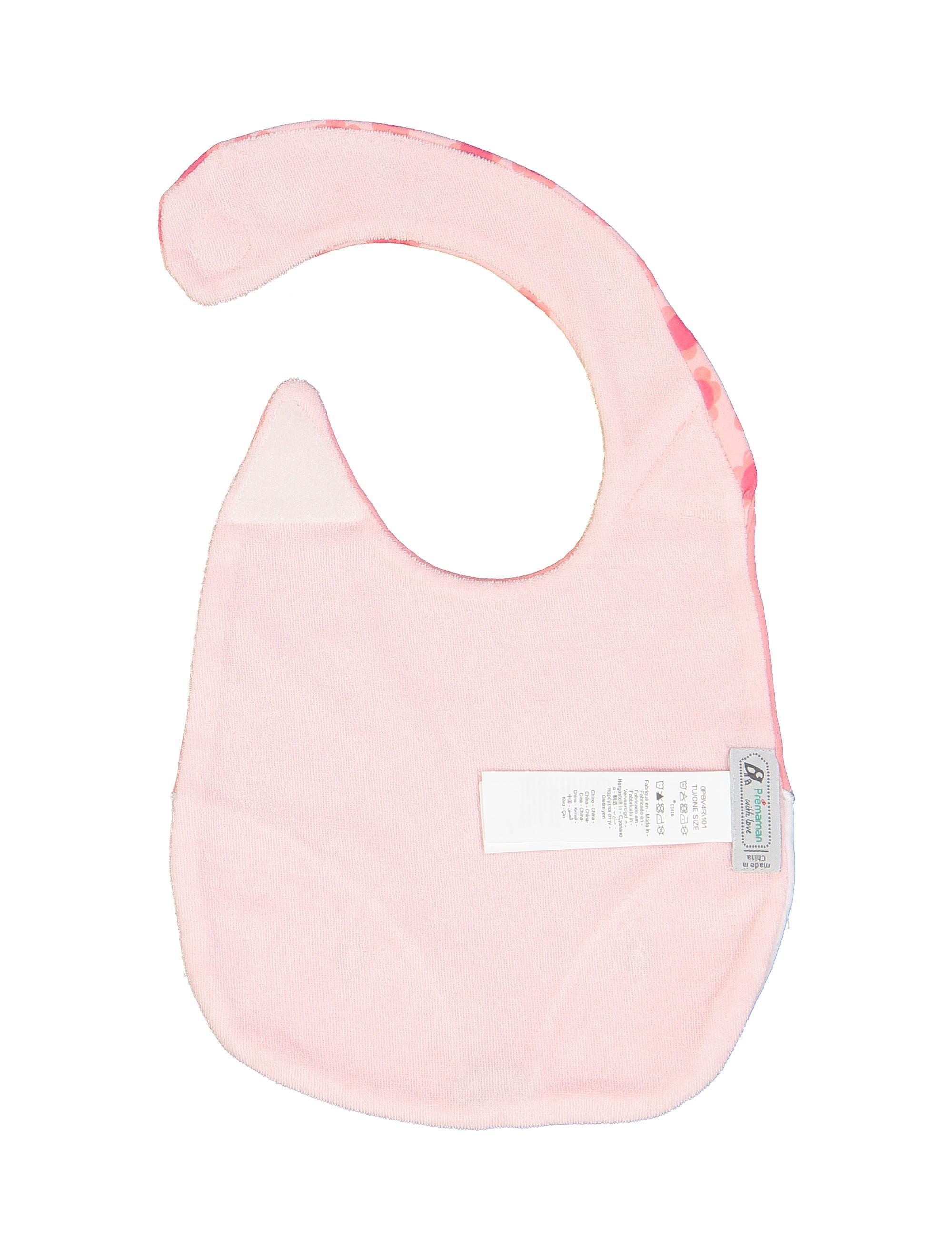 پیش بند نخی طرح دار نوزادی دخترانه - صورتي - 3