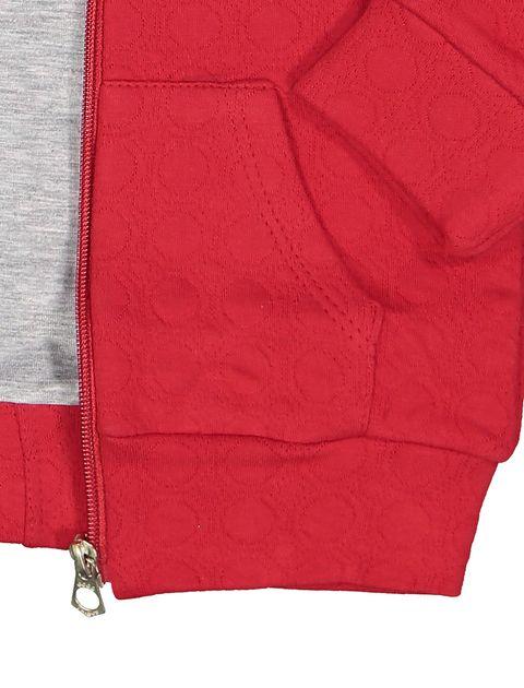 سویشرت و شلوار نخی دخترانه - سون پون - قرمز  - 5