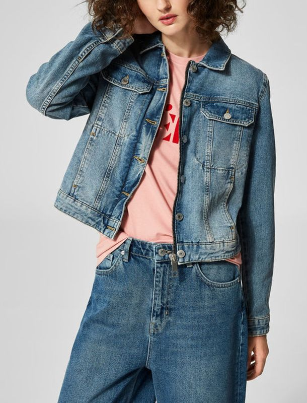 کت جین کوتاه زنانه - سلکتد