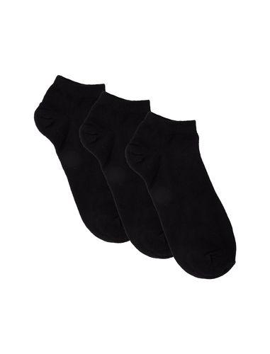 جوراب نخی ساق کوتاه زنانه بسته 3 عددی