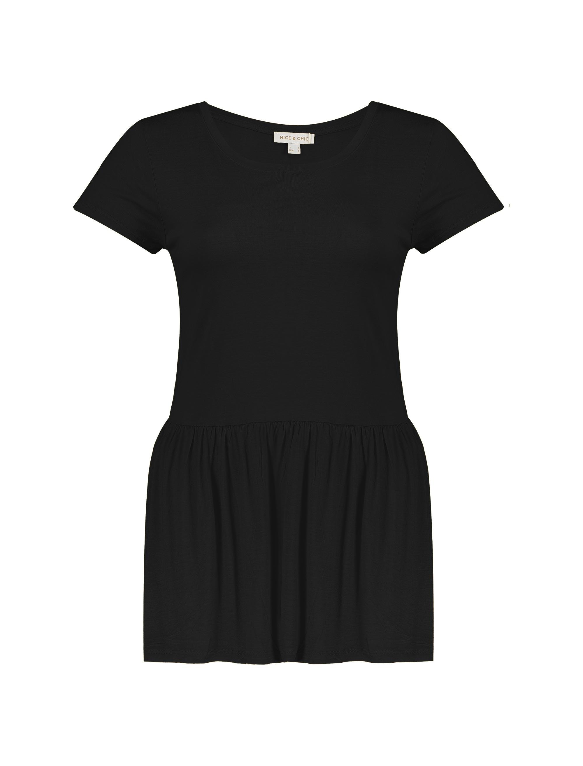 تی شرت ویسکوز یقه گرد زنانه - یوپیم - مشکي  - 1