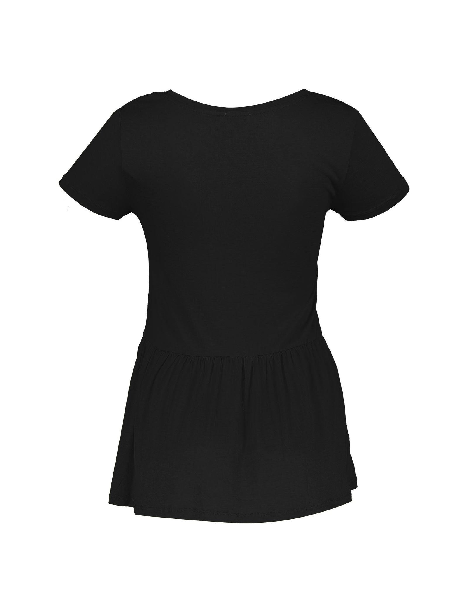 تی شرت ویسکوز یقه گرد زنانه - یوپیم - مشکي  - 2
