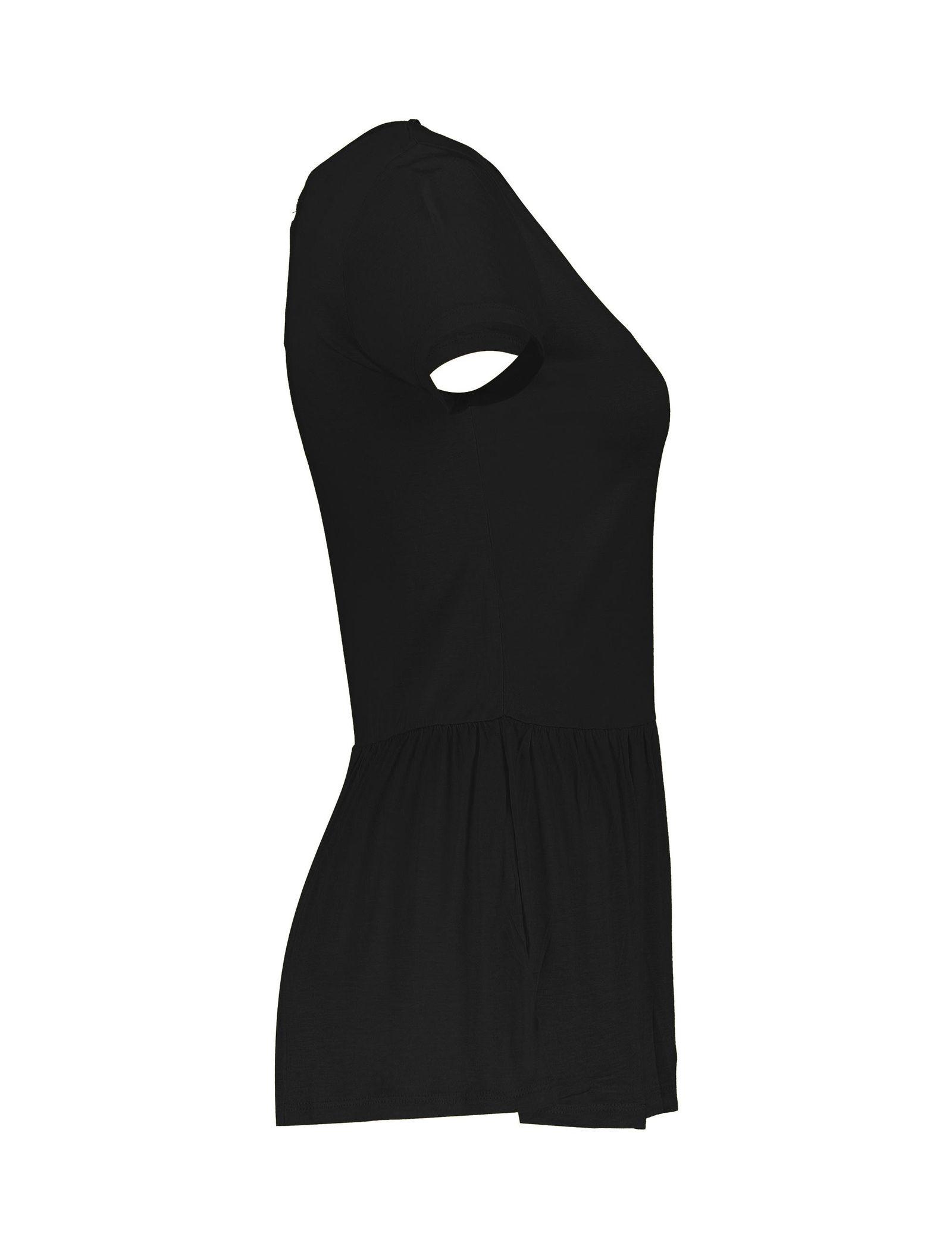 تی شرت ویسکوز یقه گرد زنانه - یوپیم - مشکي  - 3