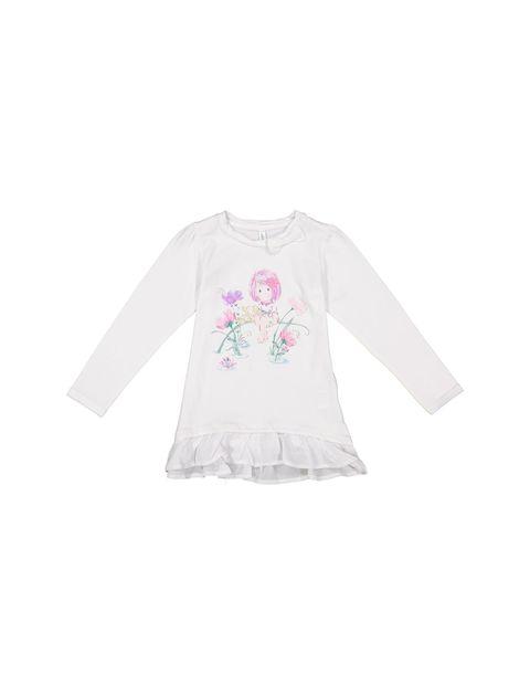 تی شرت نخی ساده نوزادی دخترانه - سفيد - 1