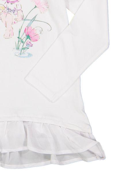 تی شرت نخی ساده نوزادی دخترانه - سفيد - 3
