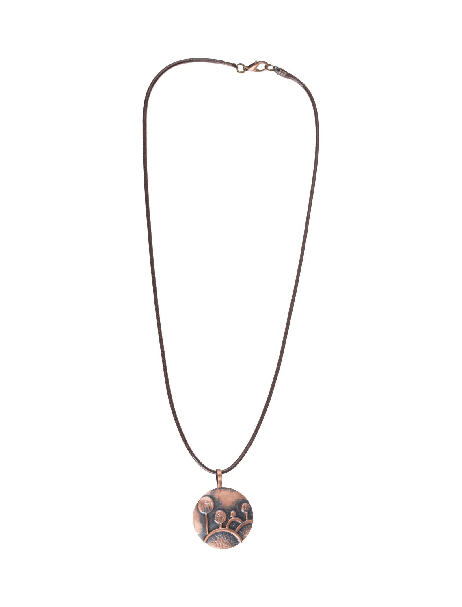 گردنبند آویز زنانه - زرمس تک سایز - قهوهاي - 1