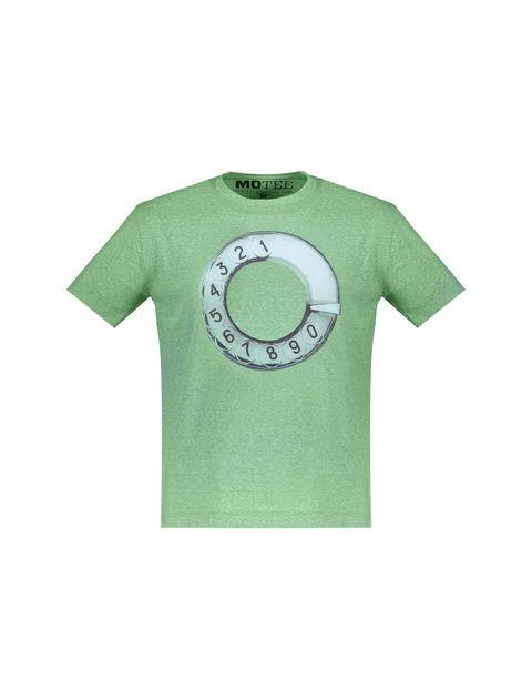 تی شرت یقه گرد مردانه - متی - سبز - 1