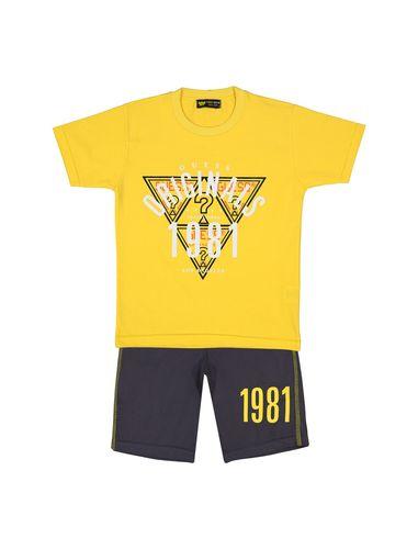 تی شرت و شلوارک نخی پسرانه 1981