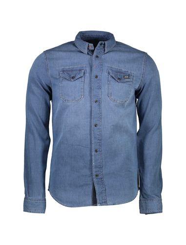 پیراهن جین آستین بلند مردانه - سوپردرای