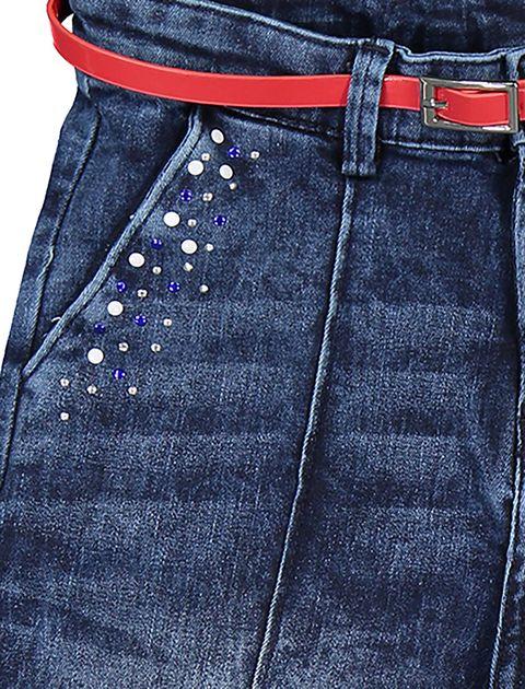 شلوار جین گشاد دخترانه - آبي - 3