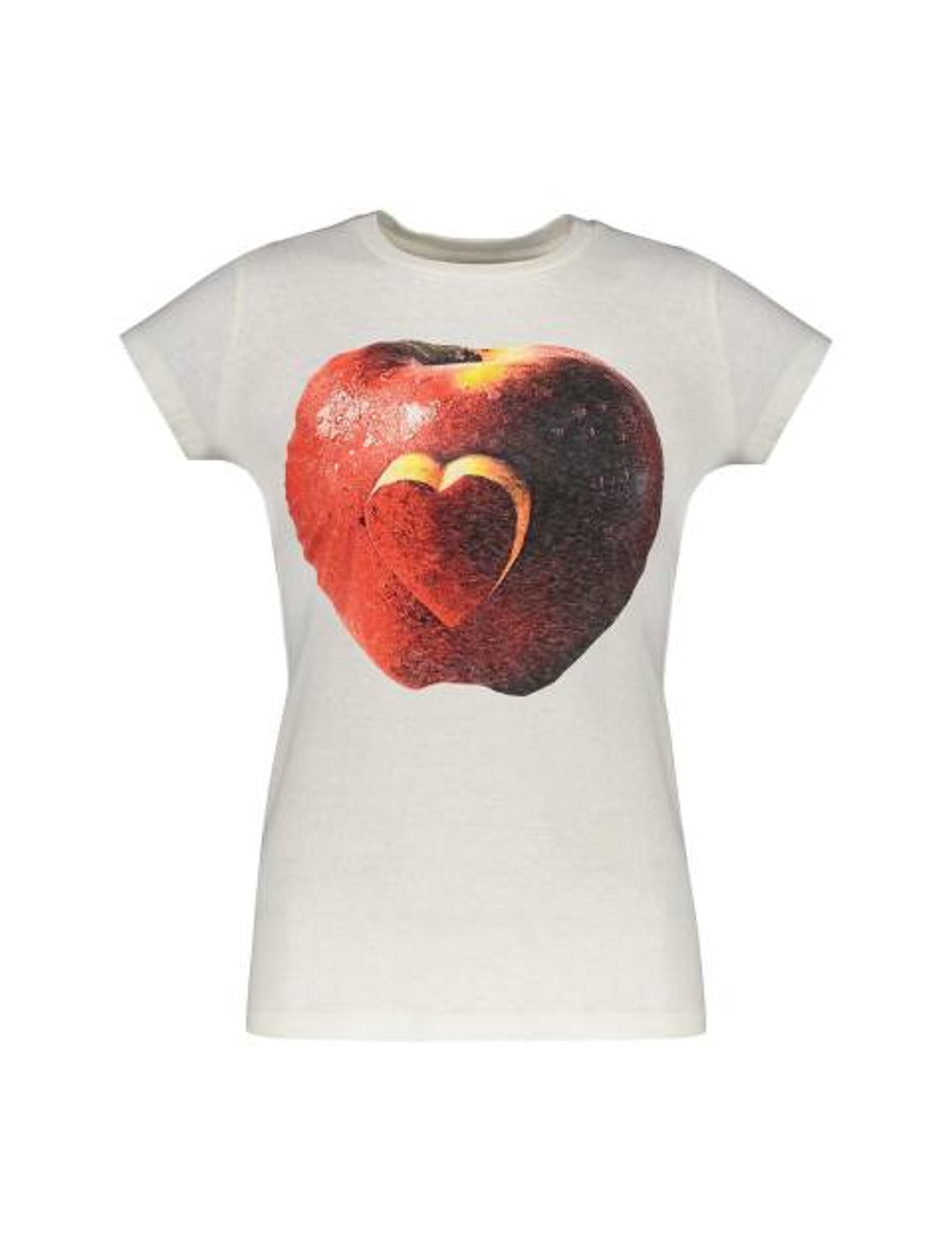 تی شرت یقه گرد زنانه - متی - کرم - 1