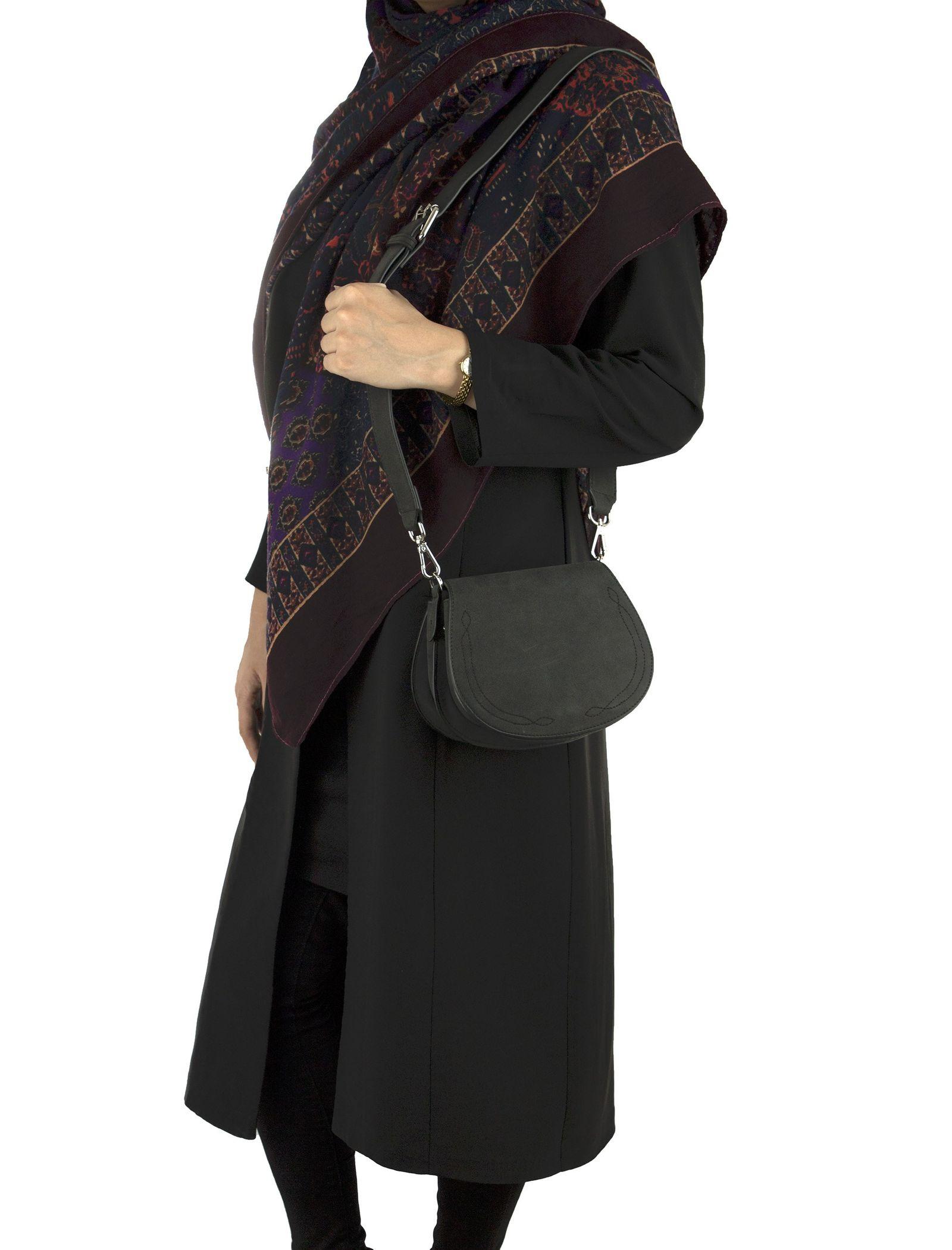 کیف دوشی روزمره زنانه - آبجکت تک سایز - مشکي - 4