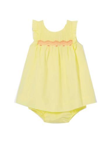 پیراهن نخی نوزادی دخترانه Lotia - جاکادی